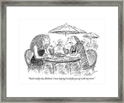 You're Really Nice Framed Print by Edward Koren