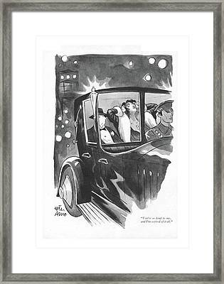 You're So Kind Framed Print by Peter Arno