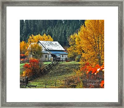 Yourn Barn Framed Print