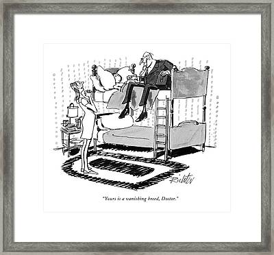 Yours Is A Vanishing Breed Framed Print