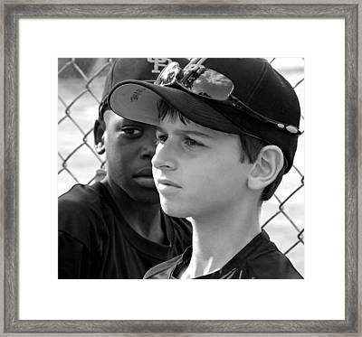 Youth Baseball 3 Framed Print