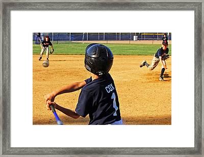 Youth Baseball Framed Print