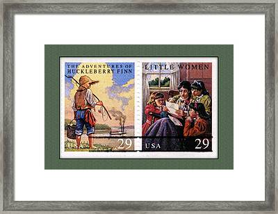 Youth Classics Stamps Framed Print by Phil Cardamone