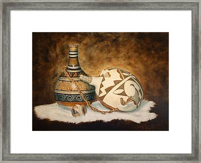 You Tube Video-indian Pots Framed Print