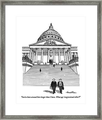 You've Been Around Here Longer Than I Have. What Framed Print by J.B. Handelsman