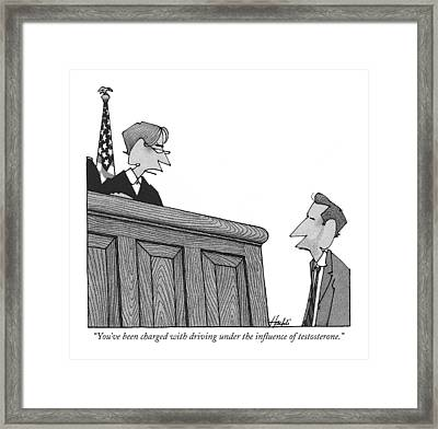 You've Been Charged With Driving Framed Print by William Haefeli