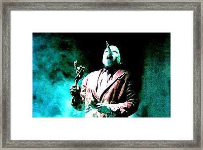 You've Been Gone Damn Near Two Years Framed Print by Ludzska