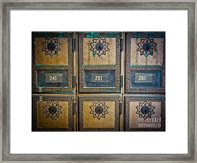 You've Got Mail Framed Print by Colleen Kammerer