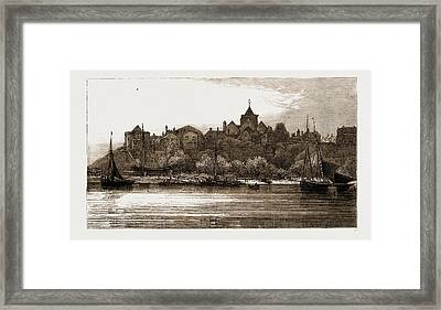 Ypres Tower, Rye From The Ferry, Uk Framed Print