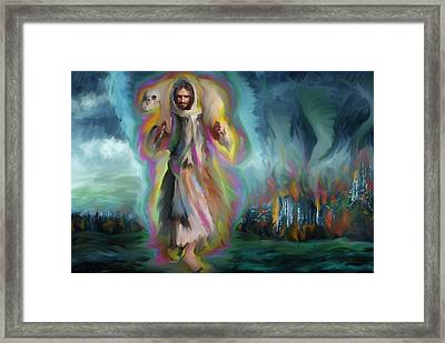 Yshuwh Yhwh Saves Framed Print