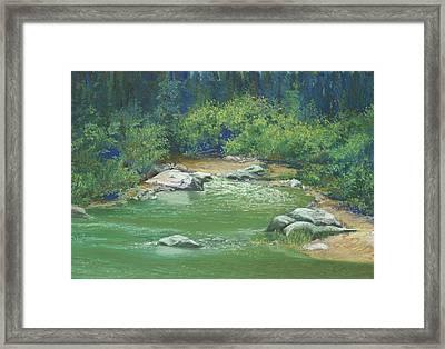 Yuba River California Framed Print by Martha J Davies