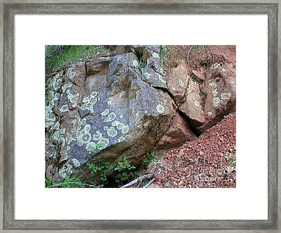 Yuba River Rock Framed Print