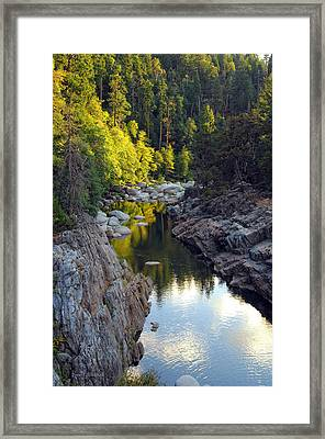 Yuba River Twilight Framed Print