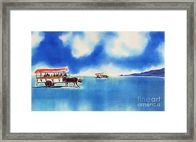 Yubu Island-water Buffalo Taxi  Framed Print