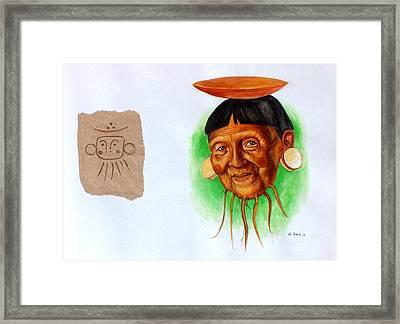 Yucahu Framed Print by Alejandra Baiz