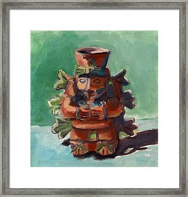 Framed Print featuring the painting Yucatan Prince by Pattie Wall