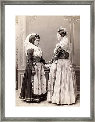 Yugoslavia Costumes Framed Print by Granger