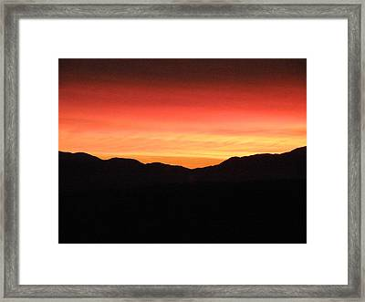 Yukon Gold And Crimson Framed Print