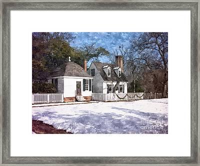 Yule Cottage Framed Print