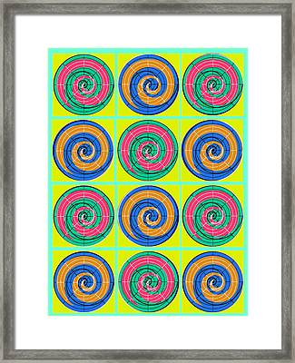 Yum Yums Lifesaver Spiral Orb Circle Bubble Pop A La After Warhol Framed Print