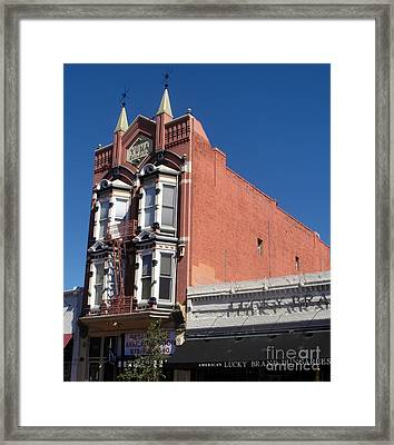 Yuma Building In San Diego Framed Print by Gregory Dyer