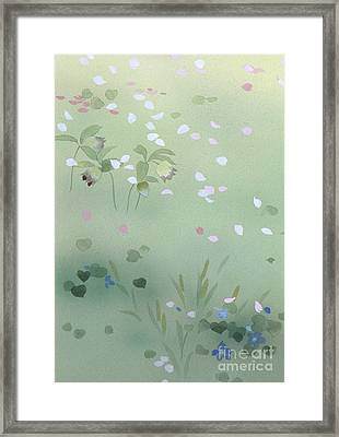 Yumezakura Crop Framed Print