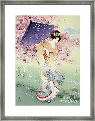 Yumezakura Framed Print by Haruyo Morita