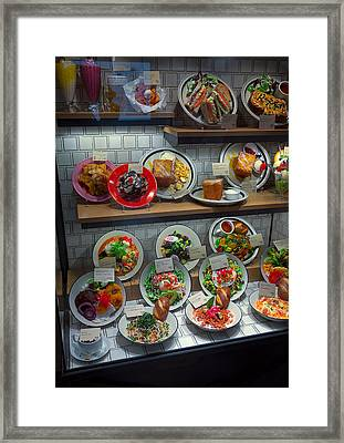 Plastic Food Display - Kyoto Japan Framed Print by Daniel Hagerman