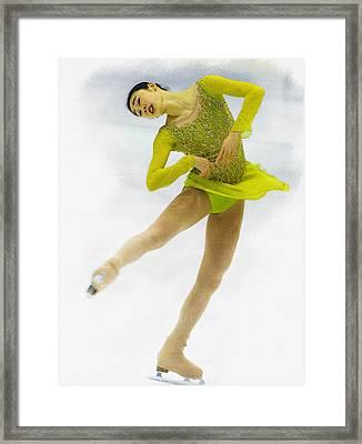 Yuna Kim Of Rebublic Of Korea Framed Print by Don Kuing