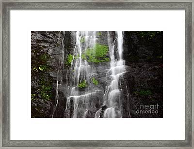 Yungas Waterfall Detail Framed Print by James Brunker