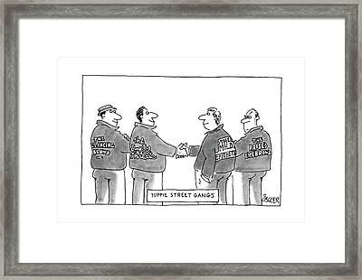 Yuppie Street Gangs Framed Print