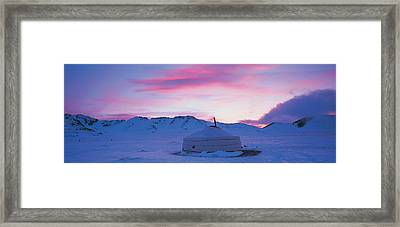 Yurt The Traditional Mongolian Yurt Framed Print by Panoramic Images