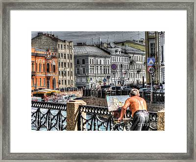 Yury Bashkin I Draw Framed Print