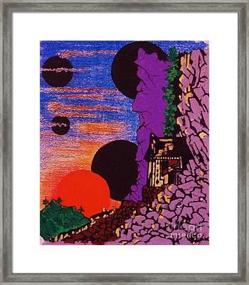 Yuyake Tsuka No Shutsu Framed Print by Roberto Prusso