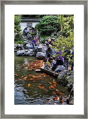 Yuyuan Gardens In Shanghai Framed Print