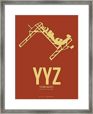 Yyz Toronto Airport Poster 3 Framed Print by Naxart Studio