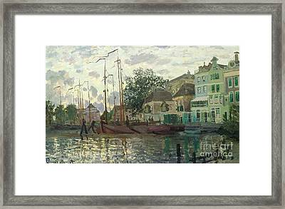 Zaandam The Dike Evening 1871 Framed Print by Claude Monet