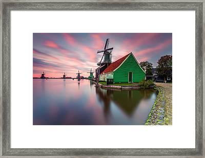 Zaanse Schans Framed Print