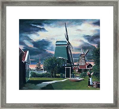 Zaanse Schans Framed Print by Jo King