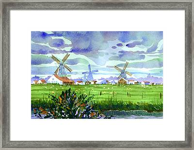 Zaanse Schans Windmills Framed Print by Lee Klingenberg
