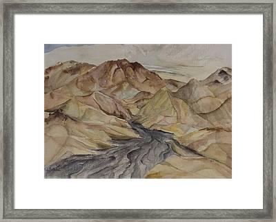 Zabriski Lookout Framed Print