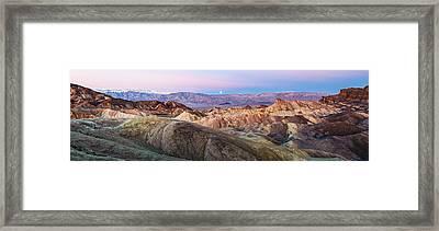 Zabriskie Dawn - Death Valley National Park Photograph Framed Print by Duane Miller