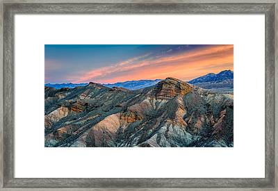 Zabriskie Dawn In Another Direction - Death Valley National Park Photograph Framed Print by Duane Miller