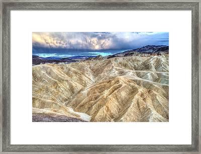 Zabriskie Mountains In Death Valley Framed Print