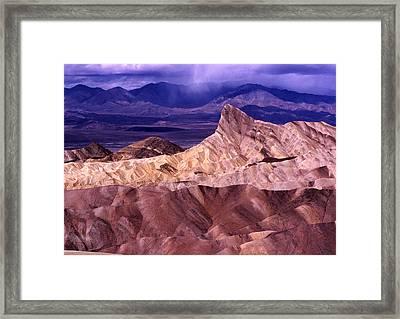 Zabriskie Point Death Valley National Park Framed Print