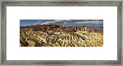 Zabriskie Point Panorama Framed Print