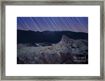 Zabriskie Point Star Trails Framed Print by Jane Rix