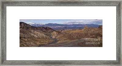 Zabriskie Point Sunrise - Death Valley National Park Framed Print by Sandra Bronstein