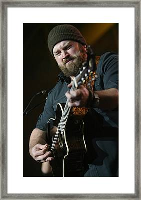 Zac Brown Band Framed Print by Don Olea