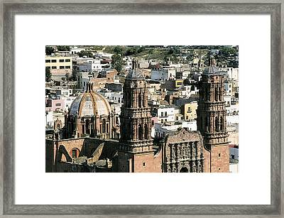 Zacatecas Cathedral. 1730-1760. Mexico Framed Print